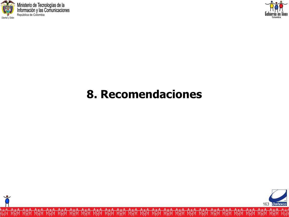 163 8. Recomendaciones
