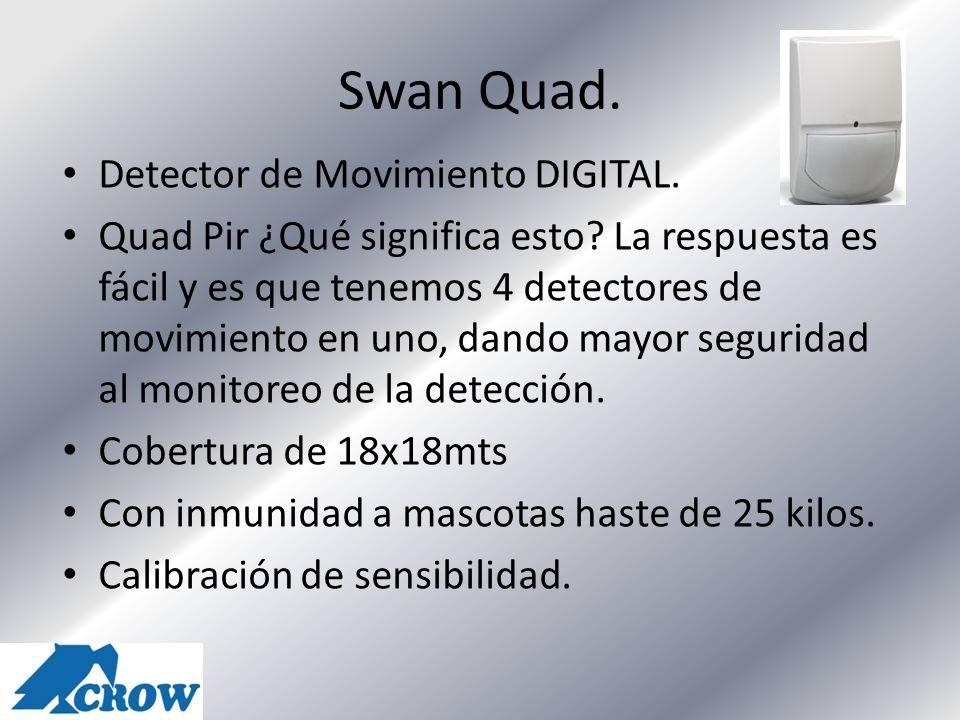 Swan Quad. Detector de Movimiento DIGITAL. Quad Pir ¿Qué significa esto? La respuesta es fácil y es que tenemos 4 detectores de movimiento en uno, dan