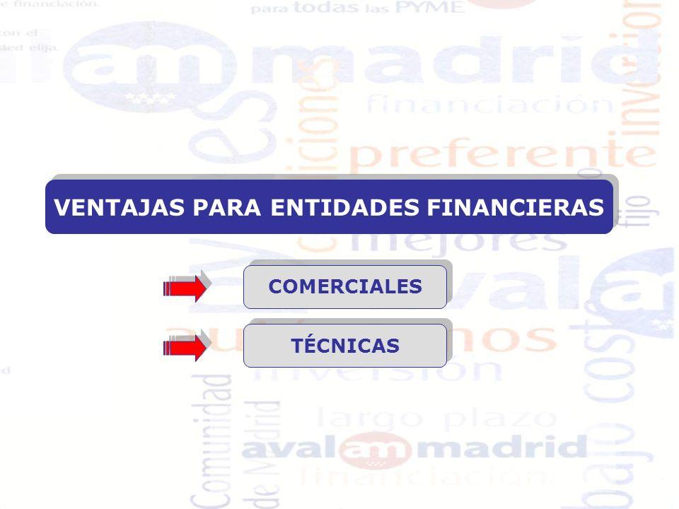 PLAN IMPULSA PYME Financiación Máxima: 400.000 CONDICIONES FINANCIERAS (*) ENTIDAD DE CRÉDITO: Tipo de interés: EURIBOR + 1 Comisión de Apertura: 0,5% AVALMADRID, S.G.R.: Gastos de Estudio: 0,50% Coste de aval : 1,25% Participaciones sociales: 2% (recuperables a la cancelación de la operación).
