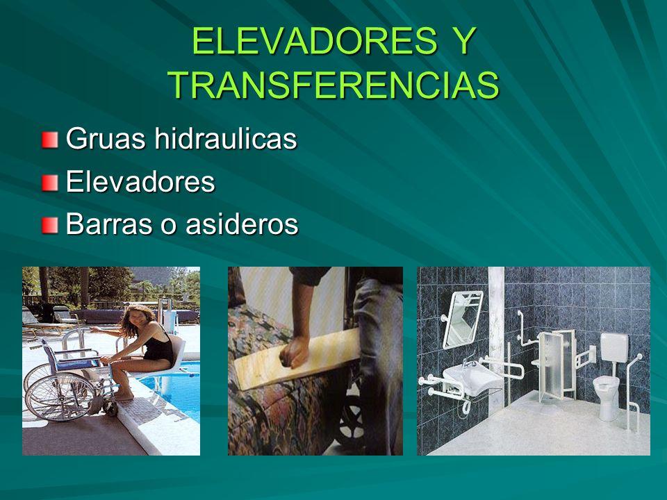 ELEVADORES Y TRANSFERENCIAS Gruas hidraulicas Elevadores Barras o asideros