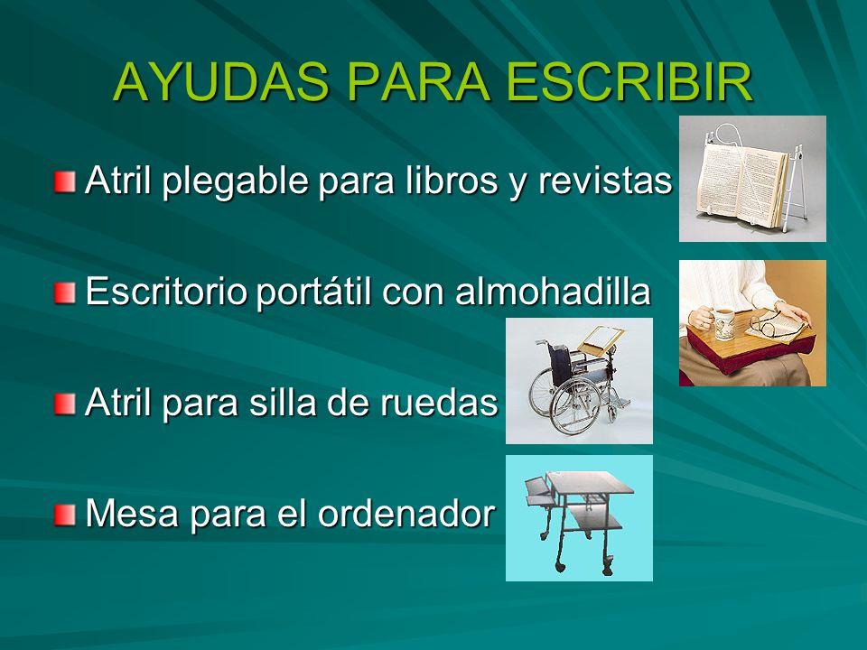 AYUDAS PARA ESCRIBIR Atril plegable para libros y revistas Escritorio portátil con almohadilla Atril para silla de ruedas Mesa para el ordenador