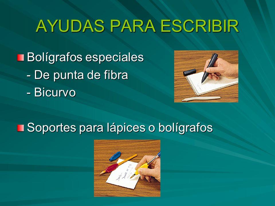 AYUDAS PARA ESCRIBIR Bolígrafos especiales - De punta de fibra - De punta de fibra - Bicurvo - Bicurvo Soportes para lápices o bolígrafos
