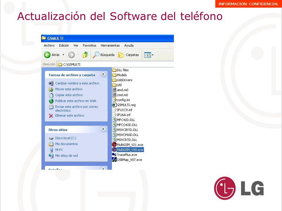 Actualización del Software del teléfono INFORMACION CONFIDENCIAL