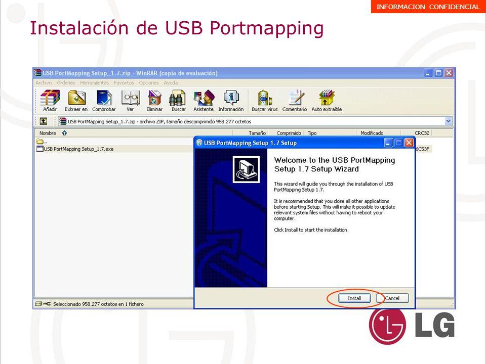 Instalación de USB Portmapping INFORMACION CONFIDENCIAL