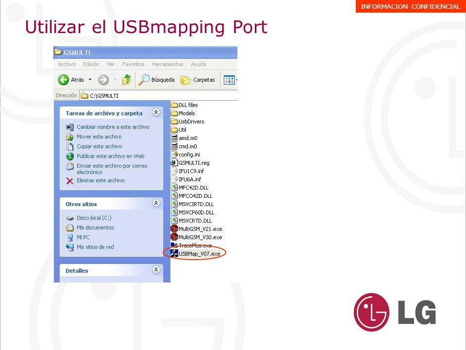 Utilizar el USBmapping Port 1.-Seleccionar INFINEON AGold Series 2.-Seleccionar MAPPING START INFORMACION CONFIDENCIAL 1 2