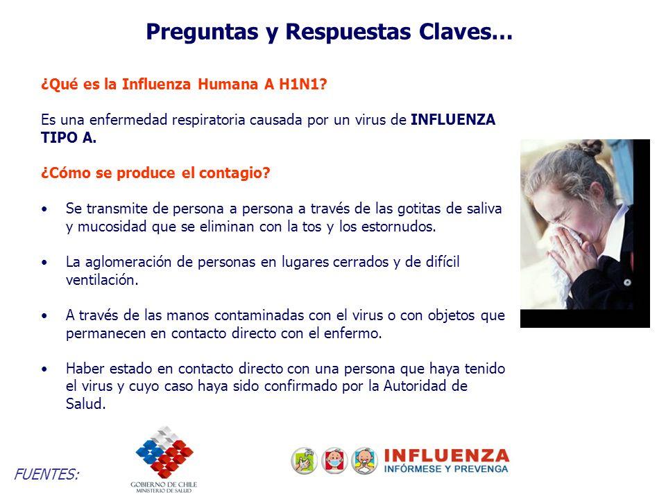 Preguntas y Respuestas Claves… ¿Qué es la Influenza Humana A H1N1.