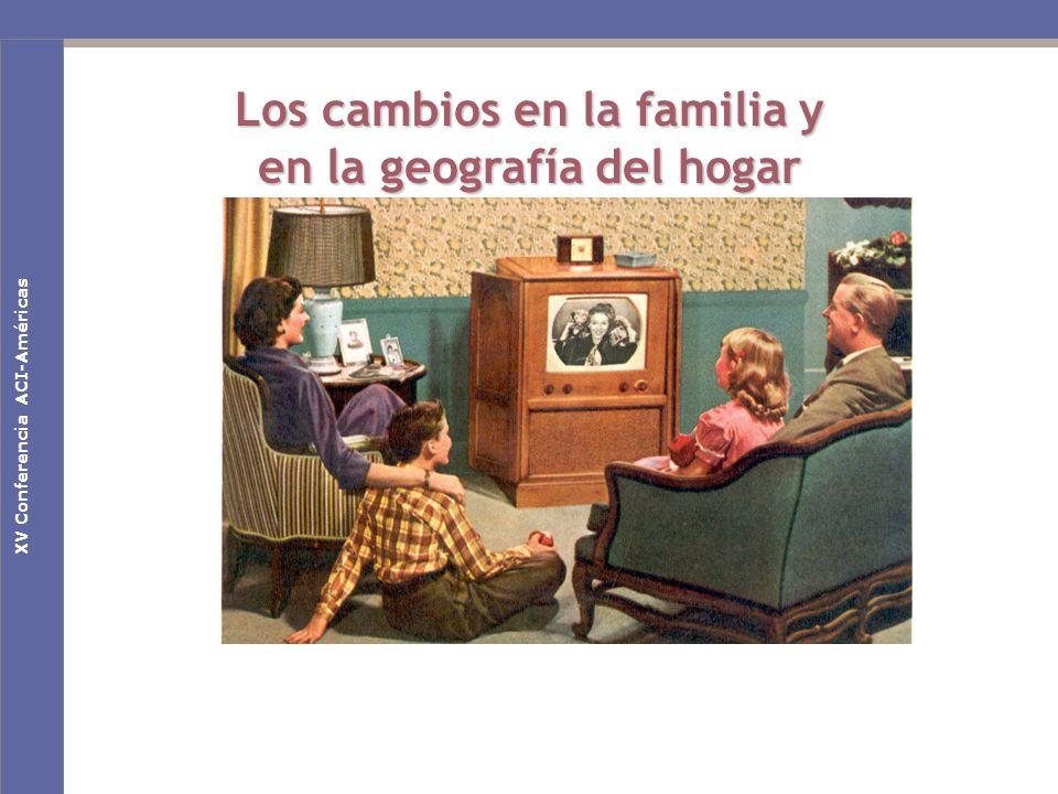 Nuevas claves culturales en la Sociedad de la Comunicación Los cambios en la familia y en la geografía del hogar Primeras Jornadas Nacionales de EducaRedXV Conferencia ACI-Américas