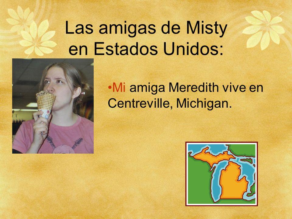 Las amigas de Misty: Mis dos amigas viven en Michigan.