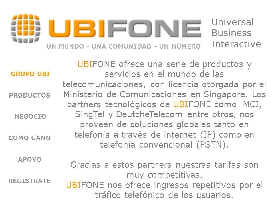 UBIFONE es una alternativa en el mundo de la telefonía GLOBAL.