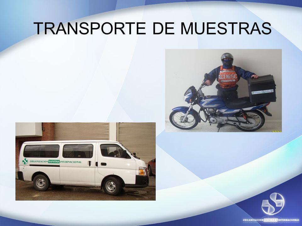 TRANSPORTE DE MUESTRAS
