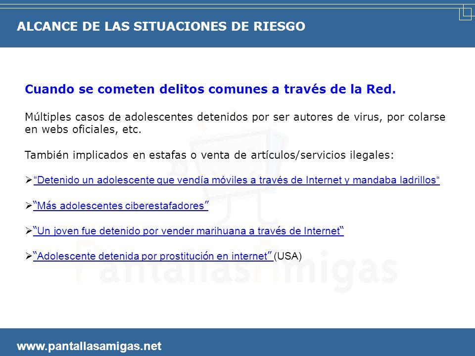 www.pantallasamigas.net La Comunidad de Madrid trata como una droga la adicción de los menores al móvil y a las nuevas tecnologías Un proyecto piloto