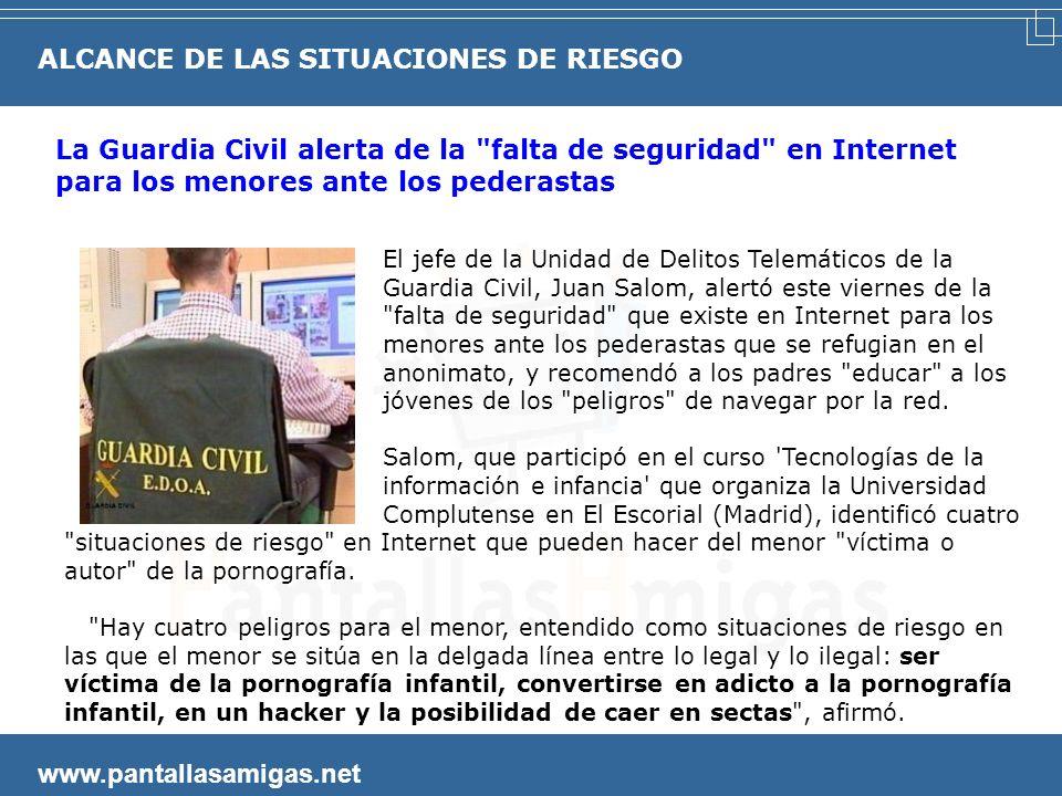 www.pantallasamigas.net Cuando se cometen delitos comunes a través de la Red. Múltiples casos de adolescentes detenidos por ser autores de virus, por