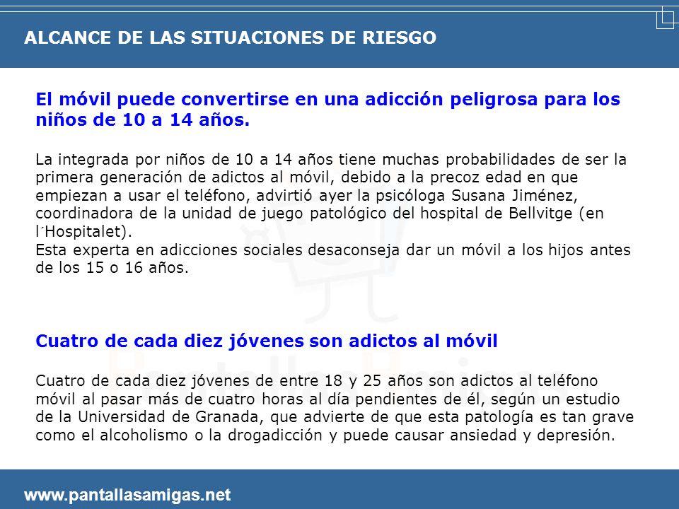 www.pantallasamigas.net El 40% de los jóvenes internautas admite que entra en 'webs' violentas y otros tantos en 'sitios' racistas La Red de redes no