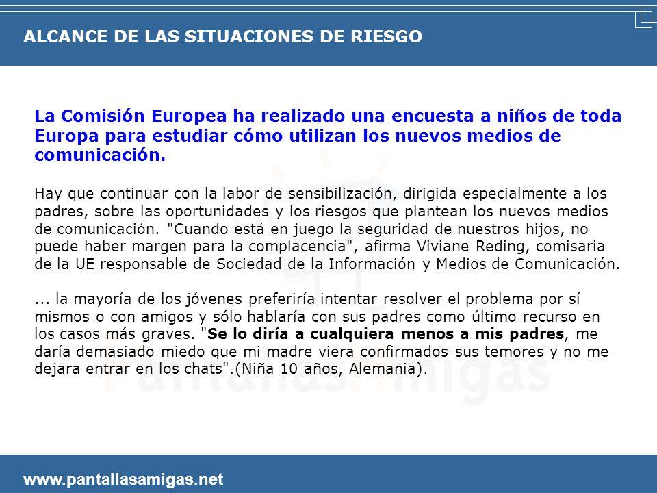 www.pantallasamigas.net La Comisión Europea ha realizado una encuesta a niños de toda Europa para estudiar cómo utilizan los nuevos medios de comunicación.