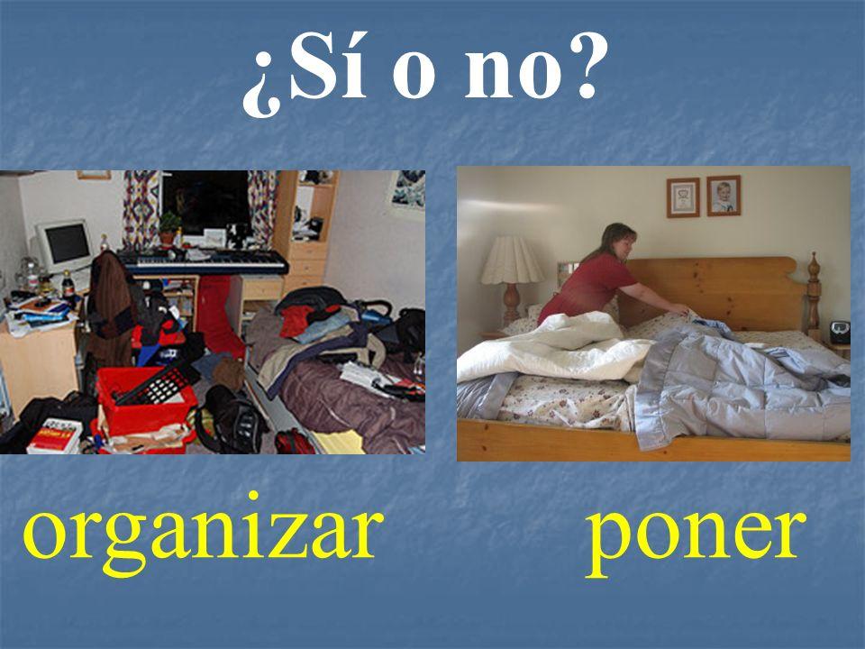 ¿Sí o no? organizarponer