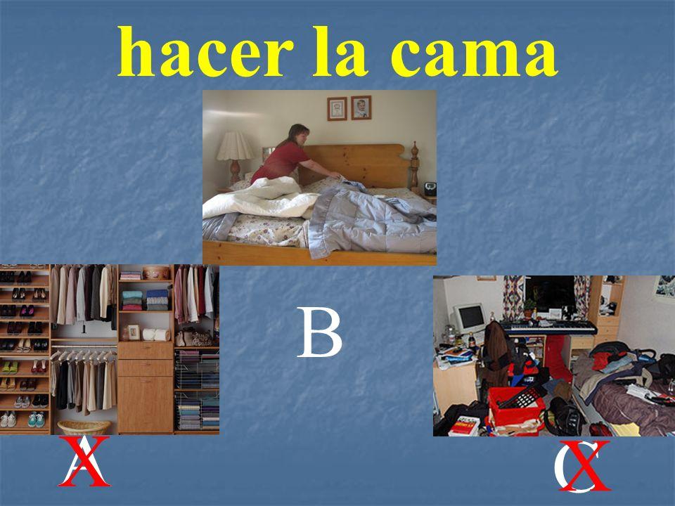 hacer la cama A B C X X