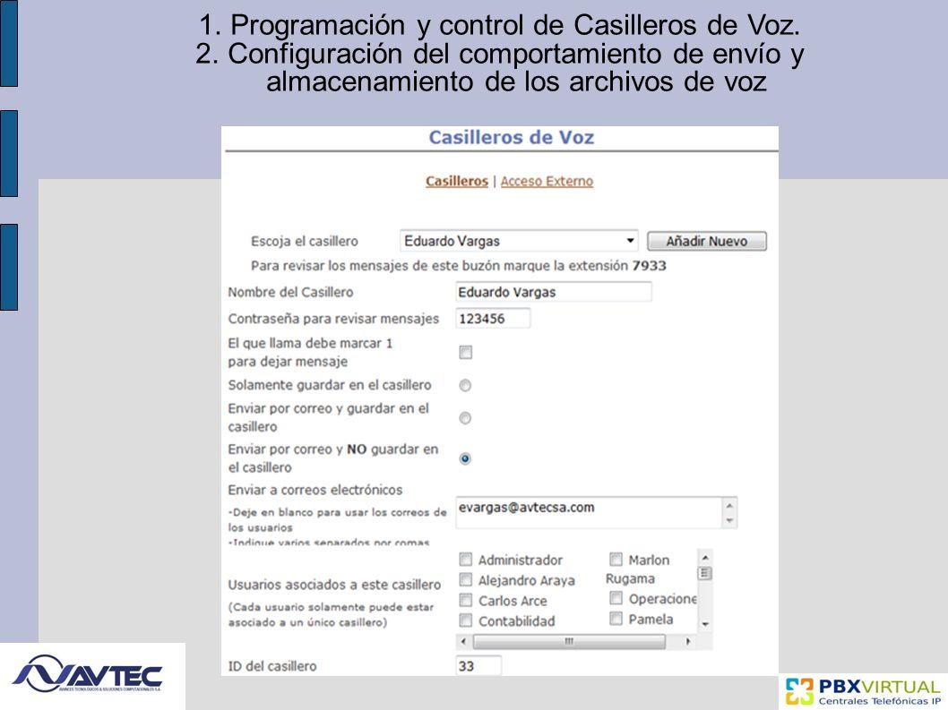 1.Programación y control de Casilleros de Voz.
