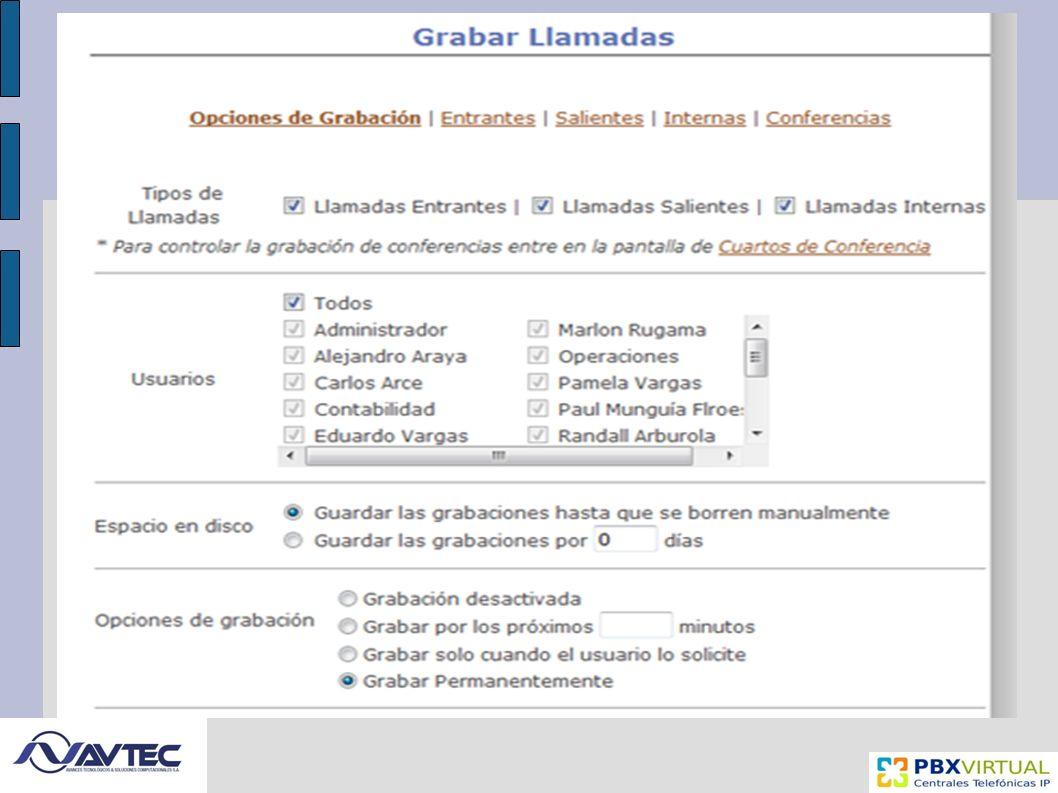 Monitoreo y Registro de Llamadas para Supervisores, con contraseña