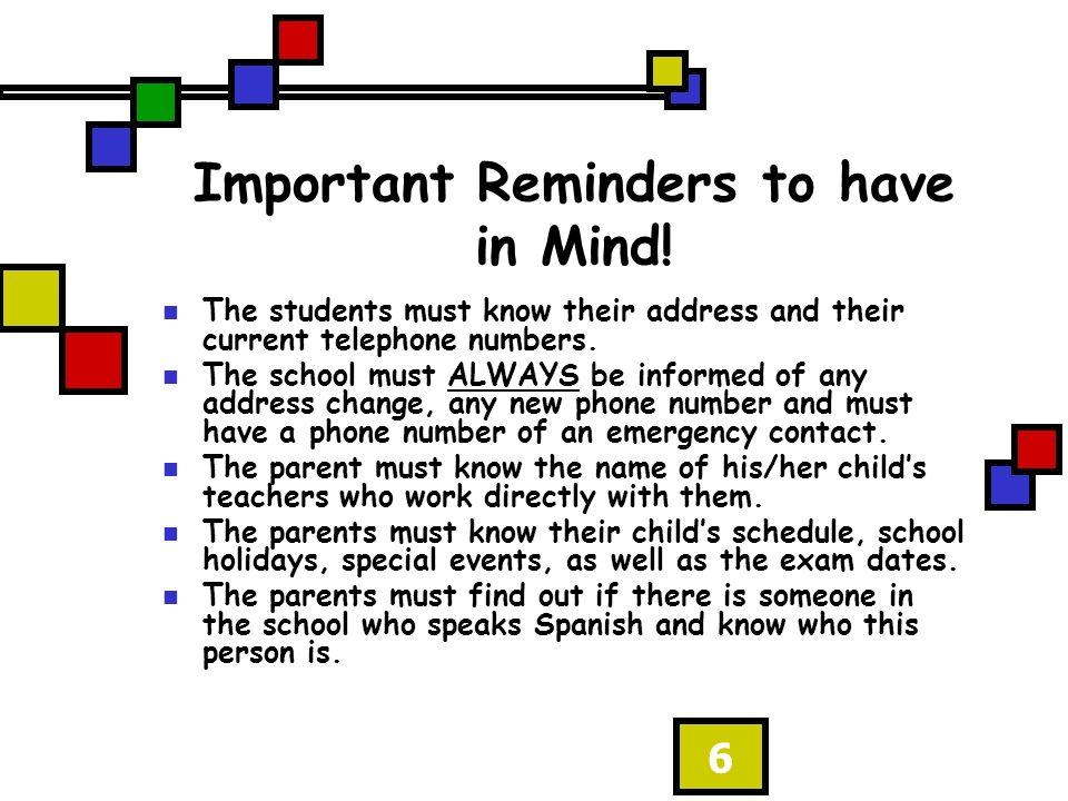 7 Protocolo Escolar de Nuestro Condado con respecto a …..