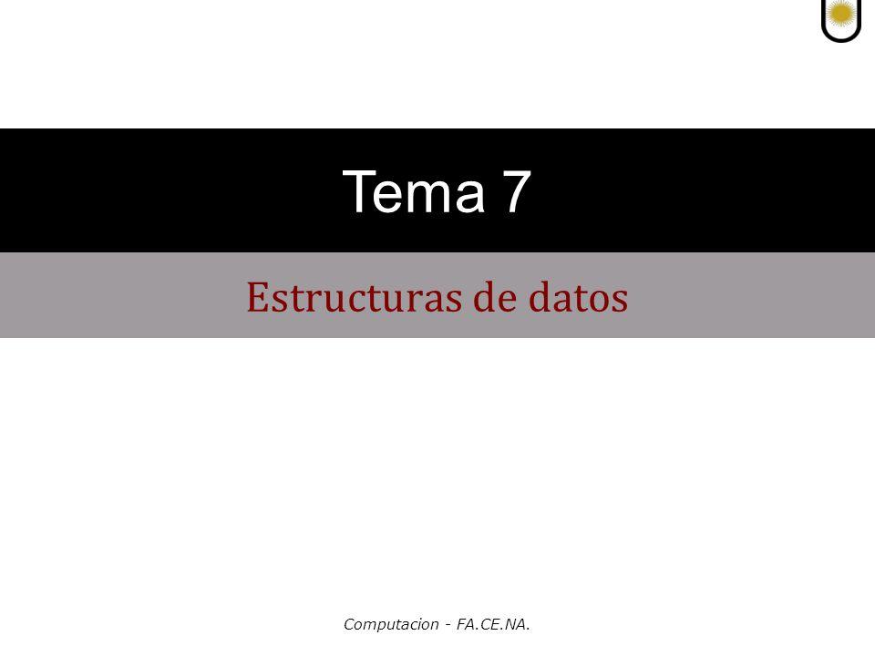 Computacion - FA.CE.NA.Estructuras de datos TEMA 7 Estructura de datos.