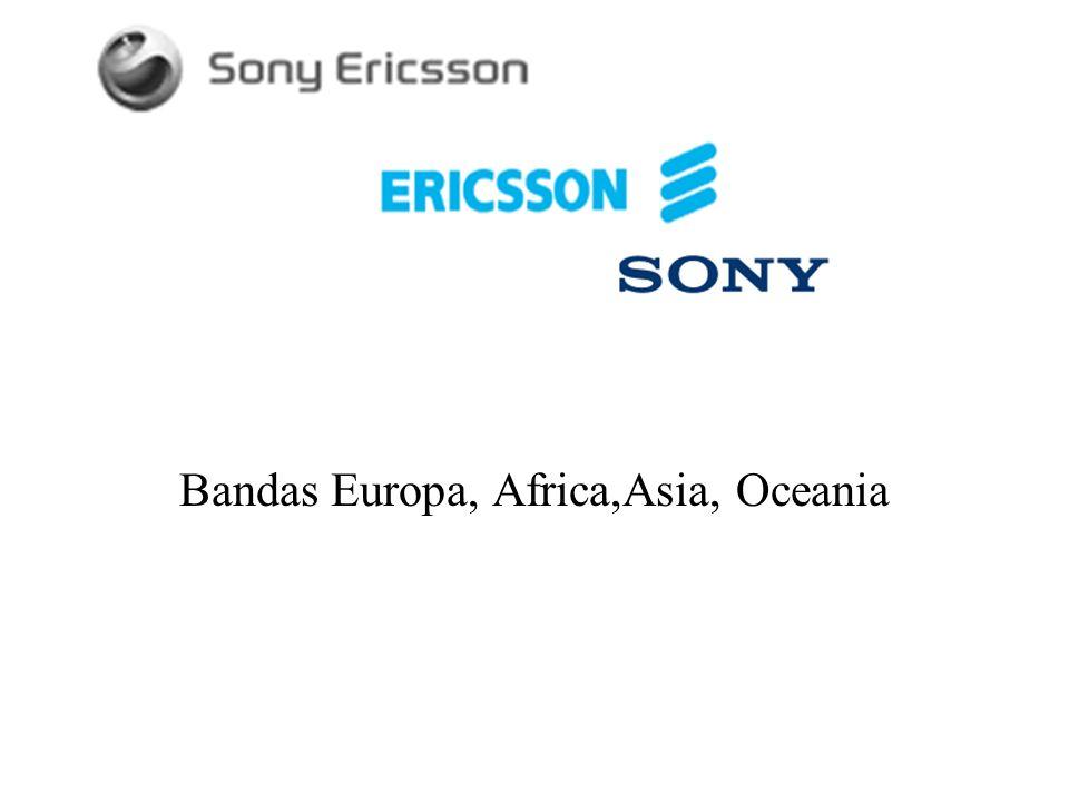 Bandas Europa, Africa,Asia, Oceania