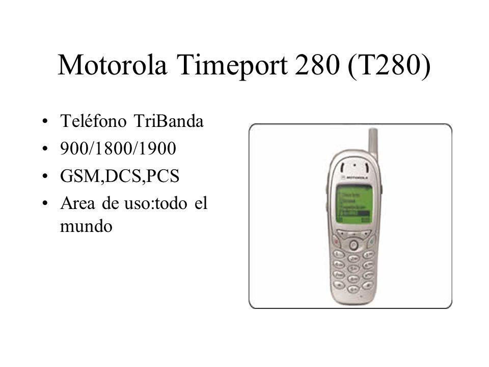 Motorola Timeport 280 (T280) Teléfono TriBanda 900/1800/1900 GSM,DCS,PCS Area de uso:todo el mundo