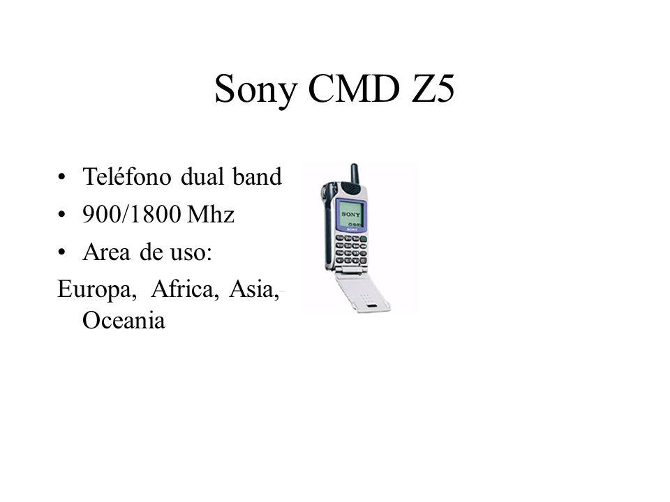 Sony CMD Z5 Teléfono dual band 900/1800 Mhz Area de uso: Europa, Africa, Asia, Oceania