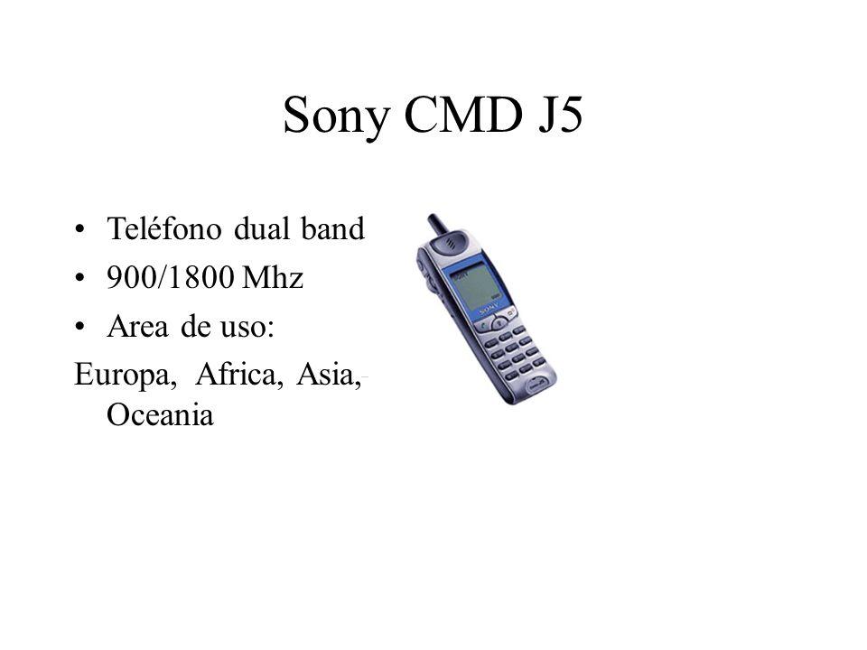 Sony CMD J5 Teléfono dual band 900/1800 Mhz Area de uso: Europa, Africa, Asia, Oceania
