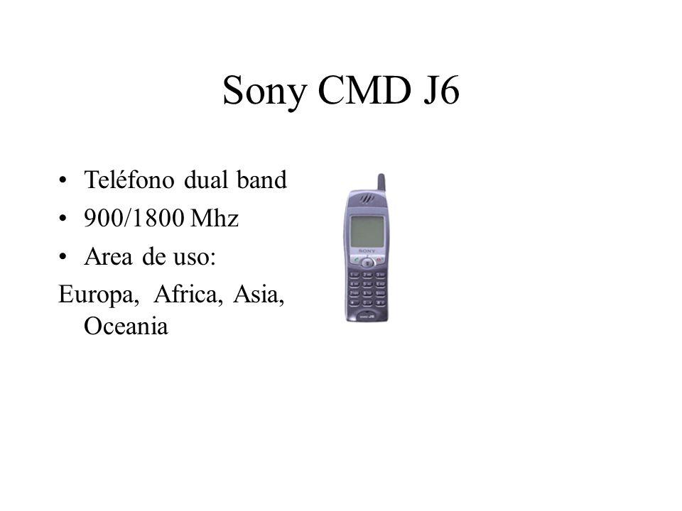 Sony CMD J6 Teléfono dual band 900/1800 Mhz Area de uso: Europa, Africa, Asia, Oceania