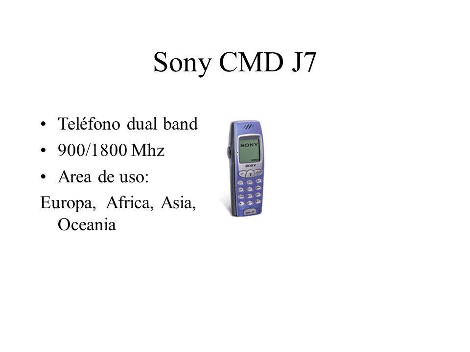 Sony CMD J7 Teléfono dual band 900/1800 Mhz Area de uso: Europa, Africa, Asia, Oceania