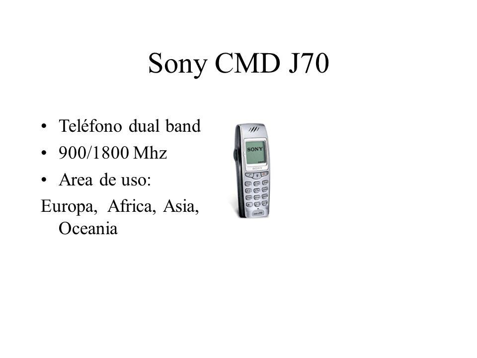 Sony CMD J70 Teléfono dual band 900/1800 Mhz Area de uso: Europa, Africa, Asia, Oceania
