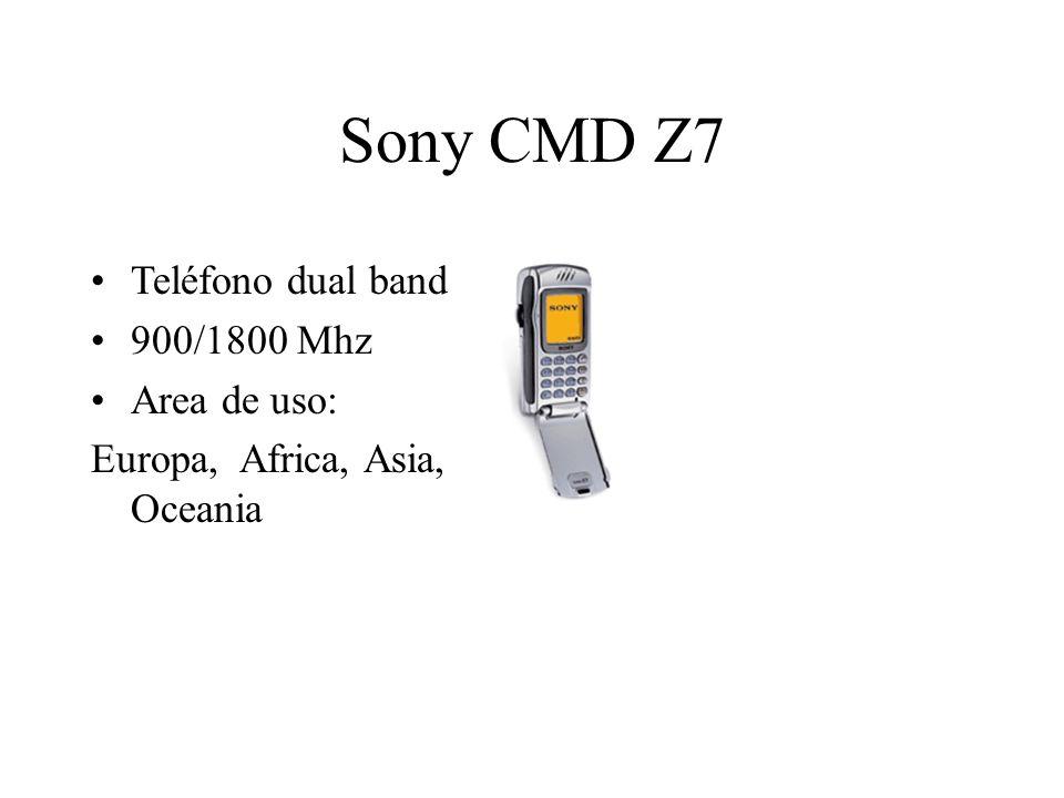Sony CMD Z7 Teléfono dual band 900/1800 Mhz Area de uso: Europa, Africa, Asia, Oceania