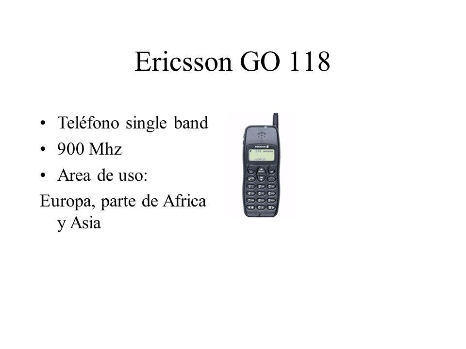 Ericsson GO 118 Teléfono single band 900 Mhz Area de uso: Europa, parte de Africa y Asia