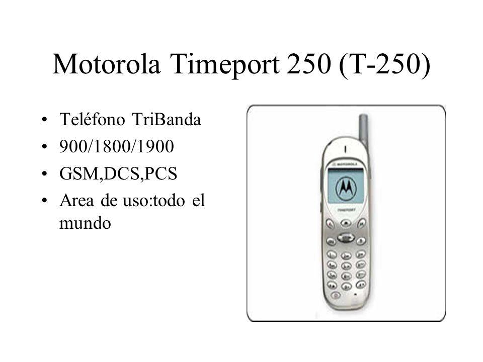 Motorola Timeport 250 (T-250) Teléfono TriBanda 900/1800/1900 GSM,DCS,PCS Area de uso:todo el mundo