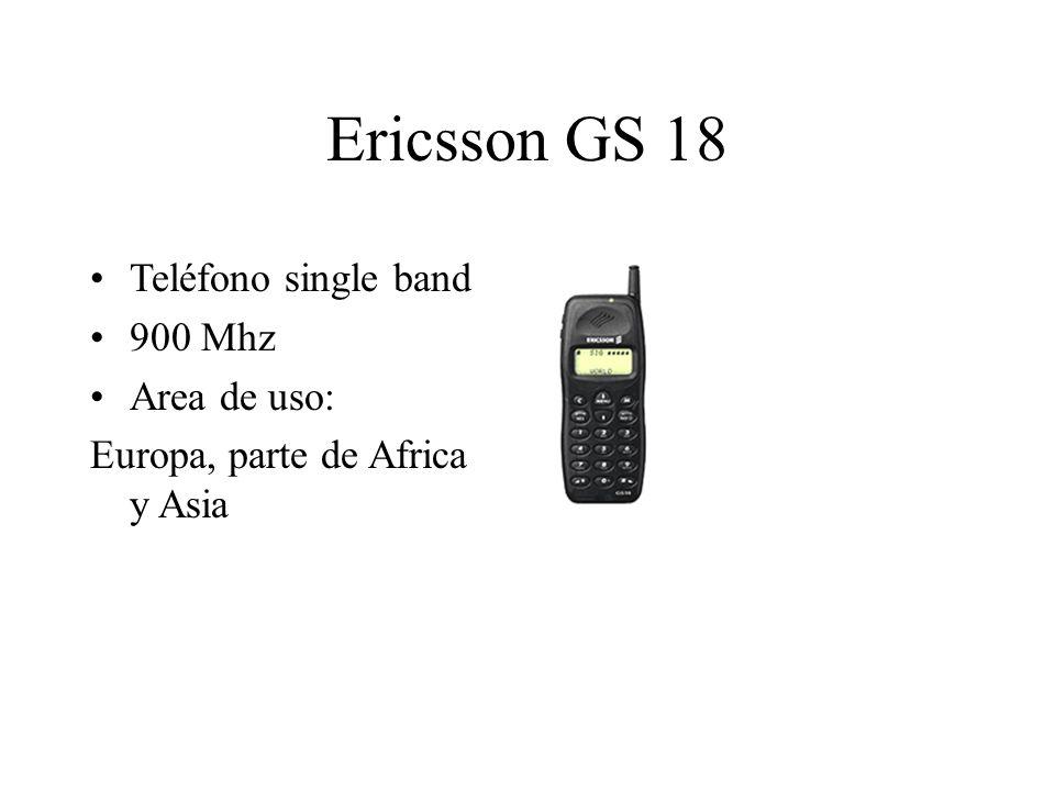 Ericsson GS 18 Teléfono single band 900 Mhz Area de uso: Europa, parte de Africa y Asia