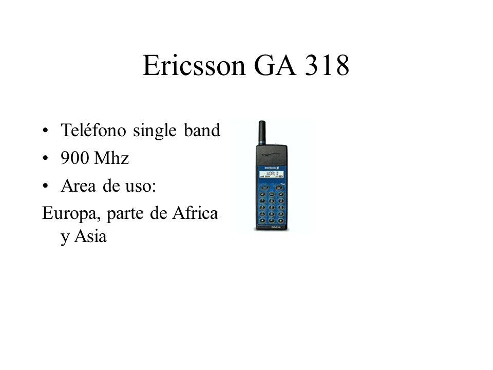 Ericsson GA 318 Teléfono single band 900 Mhz Area de uso: Europa, parte de Africa y Asia