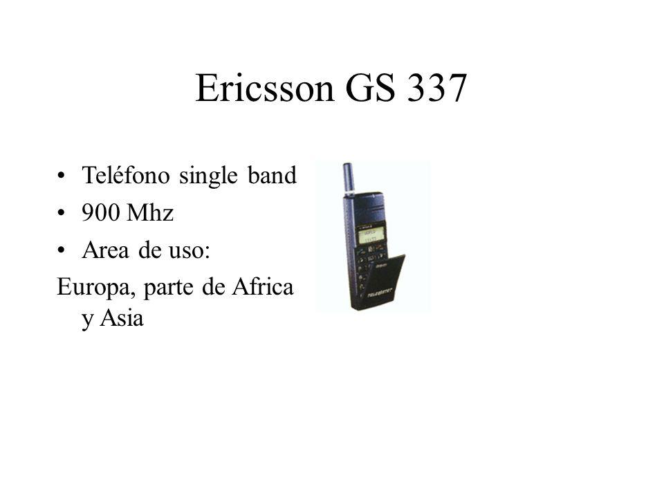 Ericsson GS 337 Teléfono single band 900 Mhz Area de uso: Europa, parte de Africa y Asia