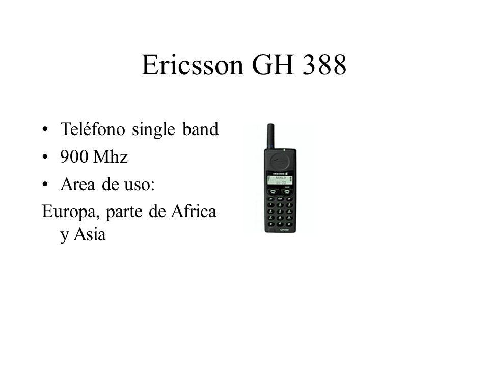 Ericsson GH 388 Teléfono single band 900 Mhz Area de uso: Europa, parte de Africa y Asia