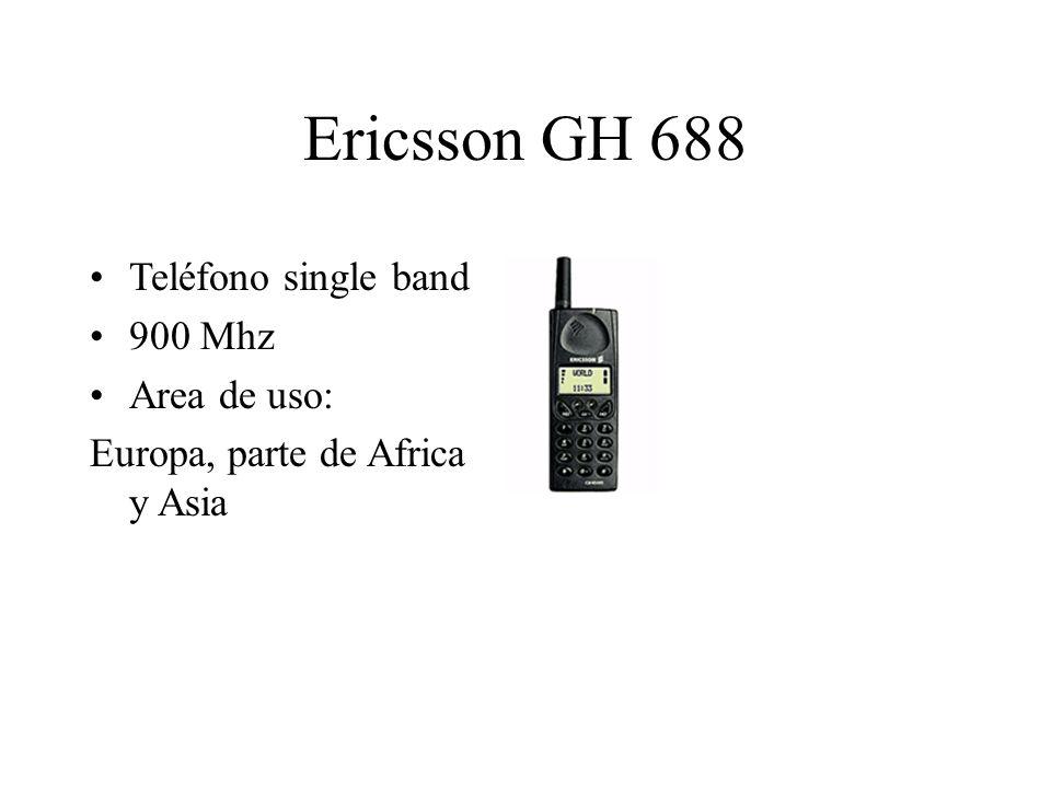 Ericsson GH 688 Teléfono single band 900 Mhz Area de uso: Europa, parte de Africa y Asia