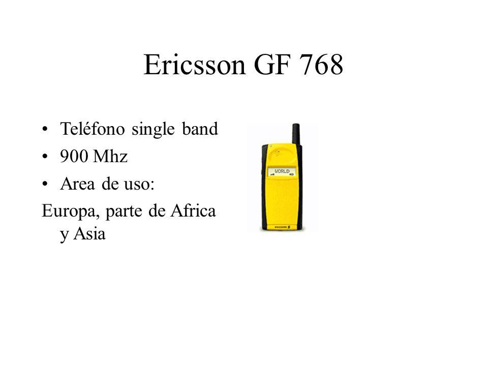Ericsson GF 768 Teléfono single band 900 Mhz Area de uso: Europa, parte de Africa y Asia