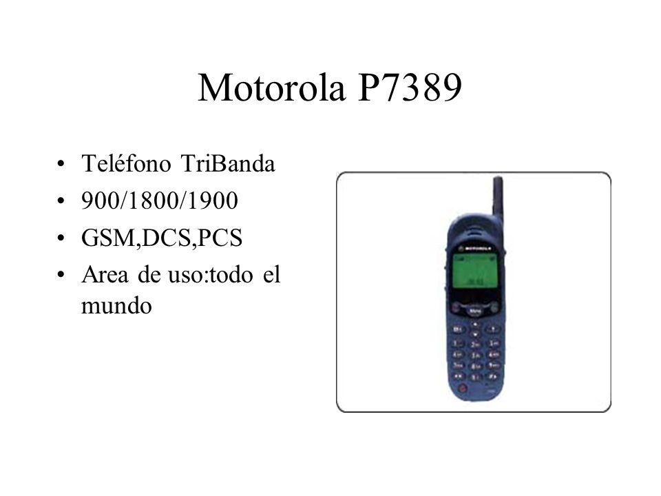 Motorola P7389 Teléfono TriBanda 900/1800/1900 GSM,DCS,PCS Area de uso:todo el mundo