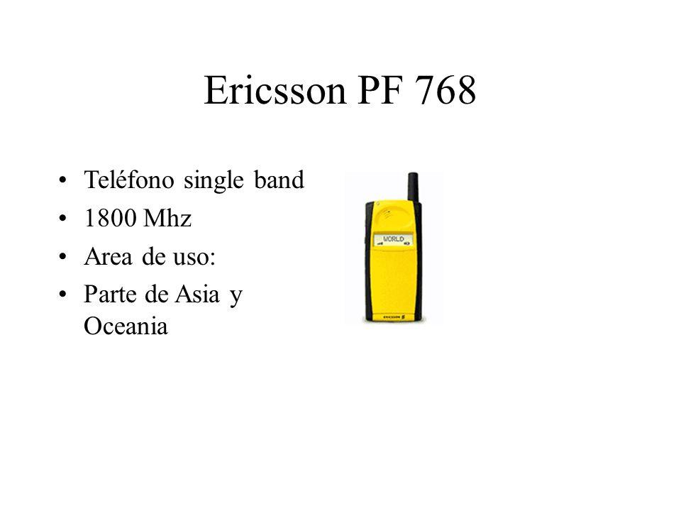 Ericsson PF 768 Teléfono single band 1800 Mhz Area de uso: Parte de Asia y Oceania