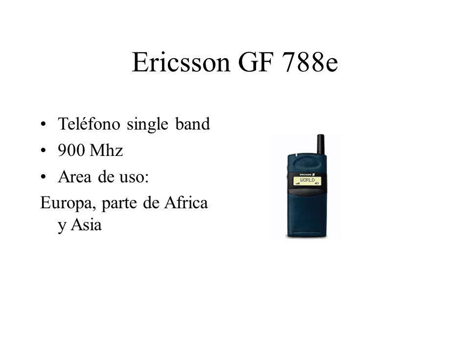 Ericsson GF 788e Teléfono single band 900 Mhz Area de uso: Europa, parte de Africa y Asia
