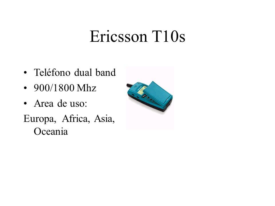 Ericsson T10s Teléfono dual band 900/1800 Mhz Area de uso: Europa, Africa, Asia, Oceania