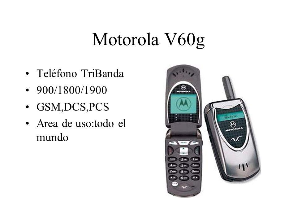 Motorola V60g Teléfono TriBanda 900/1800/1900 GSM,DCS,PCS Area de uso:todo el mundo