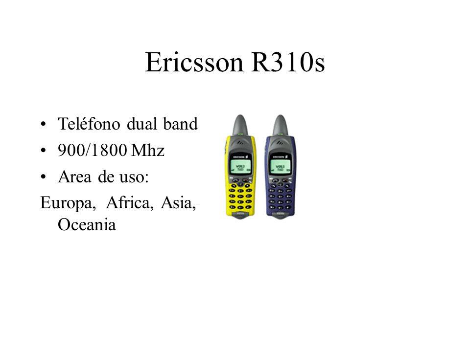 Ericsson R310s Teléfono dual band 900/1800 Mhz Area de uso: Europa, Africa, Asia, Oceania