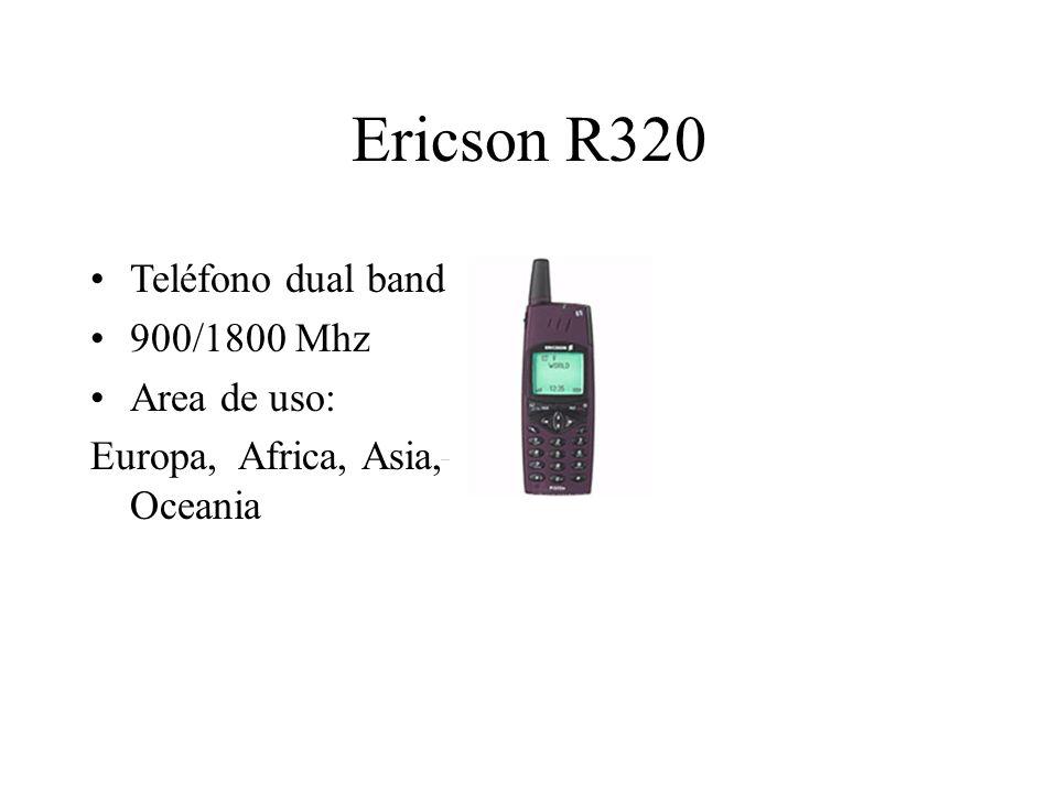 Ericson R320 Teléfono dual band 900/1800 Mhz Area de uso: Europa, Africa, Asia, Oceania