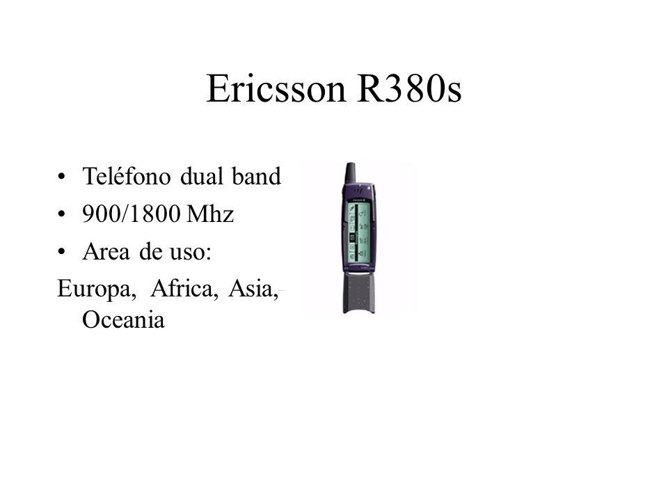 Ericsson R380s Teléfono dual band 900/1800 Mhz Area de uso: Europa, Africa, Asia, Oceania