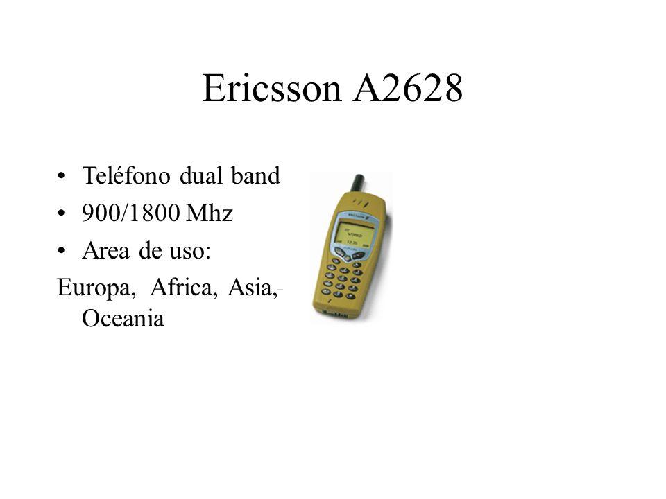 Ericsson A2628 Teléfono dual band 900/1800 Mhz Area de uso: Europa, Africa, Asia, Oceania