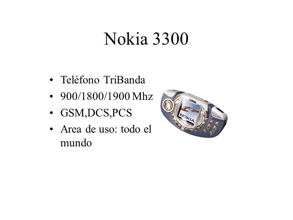 Nokia 3300 Teléfono TriBanda 900/1800/1900 Mhz GSM,DCS,PCS Area de uso: todo el mundo
